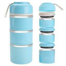3 Layers 1680ml Lunch Box Stainless Steel Food Storage Conta