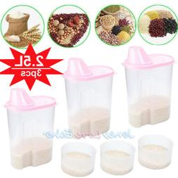 3 Pack Large Cereal Keeper Food Storage Container 23.75 Cup