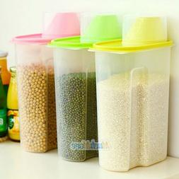 3 Pack Large Cereal Keeper Food Storage Container 2.5L/3L wi