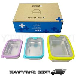 3 Piece Reusable Stainless Steel Food Storage Containers Air