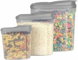 3-Piece Tupperware Containers Cereal & Food Storage | BPA Fr