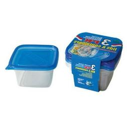 30 oz Deep Round Square Containers- 3 pk - CASE OF 48
