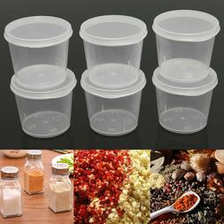 30Pcs Small Disposable Plastic Takeaway Sauce Cup Containers
