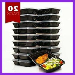 Fitboxx 32 Oz Plastic Meal Prep Containers 20 Pack Food Stor