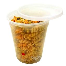 32 OZ PLASTIC MICROWAVEABLE FOOD STORAGE FREEZER CONTAINER B