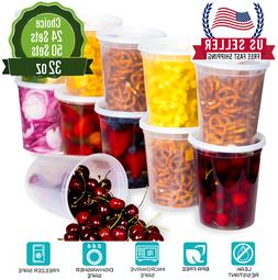 -Heavy Duty Deli Plastic Food Storage Containers with Airtig