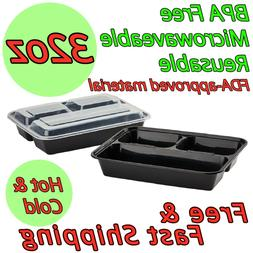 32oz Meal Prep Food Containers BPA FREE Microwavable Lunch B