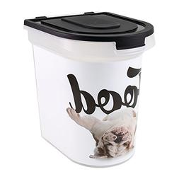 Paw Prints 37579 26 lb. Plastic Rolling Pet Food Bin, Includ
