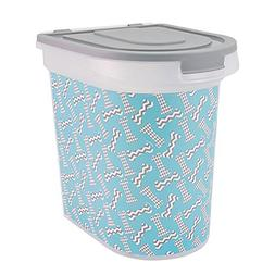 Paw Prints 37914 15 lb. Bones Design Plastic Pet Food Bin, 1