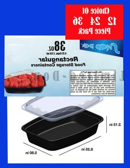 38 OZ FOOD CONTAINERS AND LIDS MICROWAVE, FREEZER, DISHWASHE