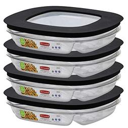 3Section Food Container, Single, PartNo 1937648, by Rubberma