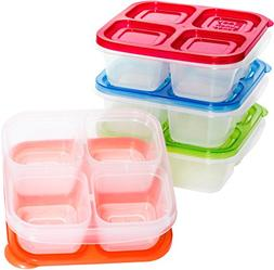 EasyLunchboxes 4-Compartment Snack Box Food Containers, Set