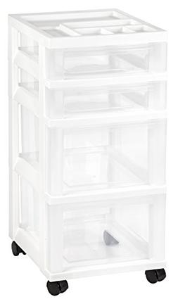 Iris 4-Drawer Cart with Organizer Top