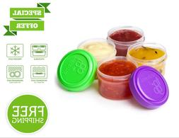 4 Pack Salad Dressing Plastic Container BPA-Free Dishwasher-