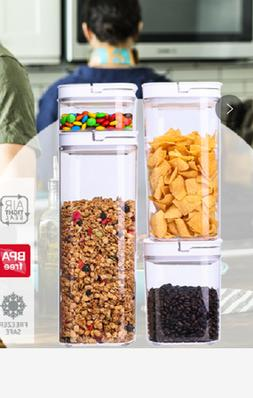 4 Piece Food Storage POP Container Set Airtight BPA Free NEW