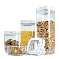 4 Piece Food Storage POP Container Set Airtight BPA Free NEW