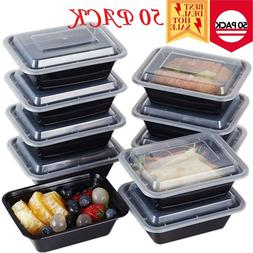 50 Meal Prep Containers 1 Compartment Food Storage Boxes Reu