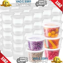 48 Pack Plastic Deli Food Storage Containers With Leak-Proof
