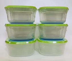24 Piece Space Saving Food Storage Containers Heavy Duty Reu