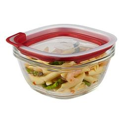 Rubbermaid Food Storage Container Freezer, Glass 4 Cup Squar