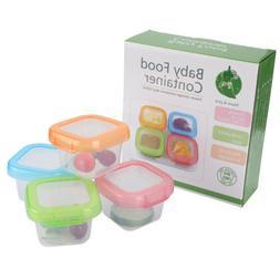4Pcs/Set Leakproof Baby Food Storage Dishwasher Safe 4oz/120