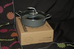 TUPPERWARE 4Qt SAUTE PAN non-stick coating, w/ TEMPERED GLAS