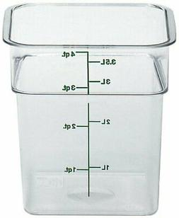 Cambro 4SFSCW 4 Qt. Square Food Storage Container