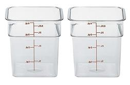 Cambro 4SFSCW135 CamSquare Food Storage Containers, Set of 2