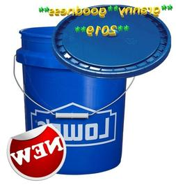 5 Gallon All Purpose Bucket with Lid Commercial Storage Dura