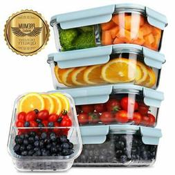 5-Pack 2019 Upgrade Kit Glass Meal Prep Containers DEKINMAX