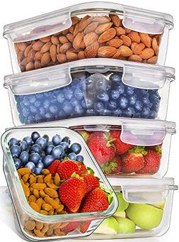 Glass Meal Prep Containers Glass - Food Storage Containers