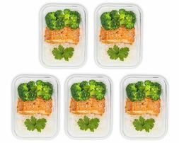 Prep Naturals  Glass Meal Prep Containers BPA free 29 oz fre