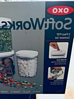 OXO 5-PC POP Storage Container Set Good Grips Airtight Soft