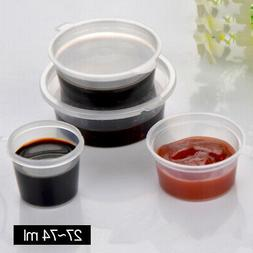 50/100pcs Small Clear Plastic Smoothly Condiment Sauce Dispo