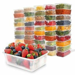 50 Food Containers with leakproof lids - 25 oz   Microwave &