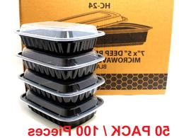 50 meal prep containers 1 compartment food