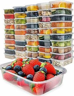 50 pack, 17oz Food Storage Containers With Lids Plastic Cont