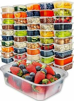 50 Pack 25 Ounce Food Storage Containers with Lids Vegetable