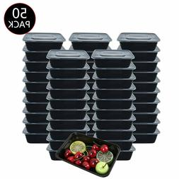 50 Pack Meal Prep Containers Reusable Food Storage Disposabl