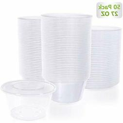 - 50-Piece, 27 Oz Disposable BPA Free Food Storage Container