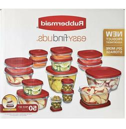 Rubbermaid 50-Piece Easy Find Lids Food Storage Container Se