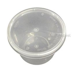 50 PLASTIC CONTAINERS WITH LIDS DISPOSABLE PARTY TABLEWARE F