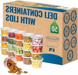 16 oz Heavy Duty Deli Food/Soup Plastic Containers w/ Lids