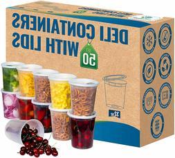 32 oz Heavy Duty Deli Food/Soup Plastic Containers w/ Lids