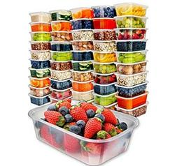50pk,25oz] Food Storage Containers with Lids - Food Containe