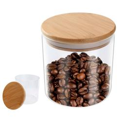 550ml Airtight Food Storage Jar Clear Glass Tea Coffee Conta