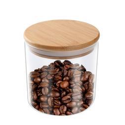 550ML Glass Food Storage Jar Tea Coffee Spice Container Airt
