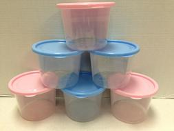 6 - 20 OUNCE STORAGE CONTAINERS WITH SNAP LOCK LIDS