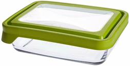 Anchor Hocking 6-Cup Rectangular Food Storage Container, Gre