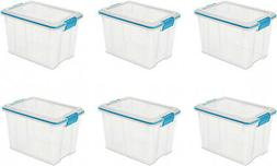 6 Pack Gasket Sealed 20 Quart Latch Box Seal Container Stora